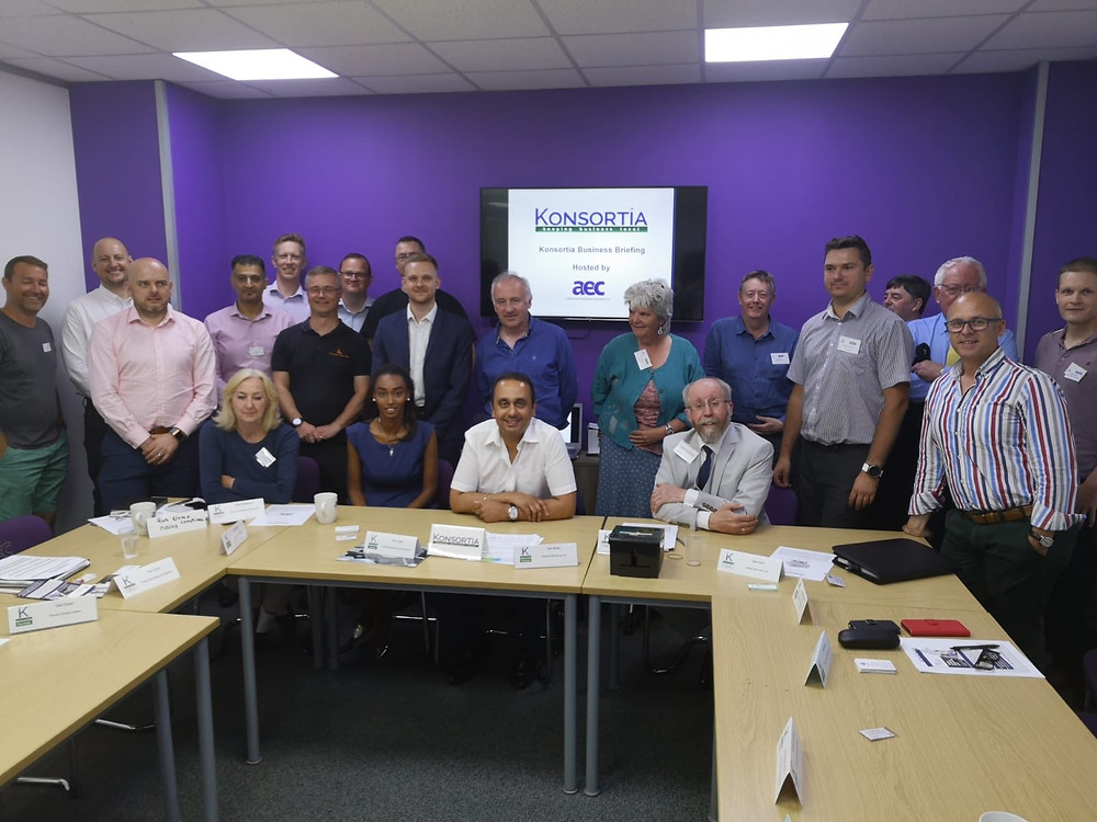 Konsortia Partners and Guests with the Small Business Commissioner, Paul Uppal (seated centre)