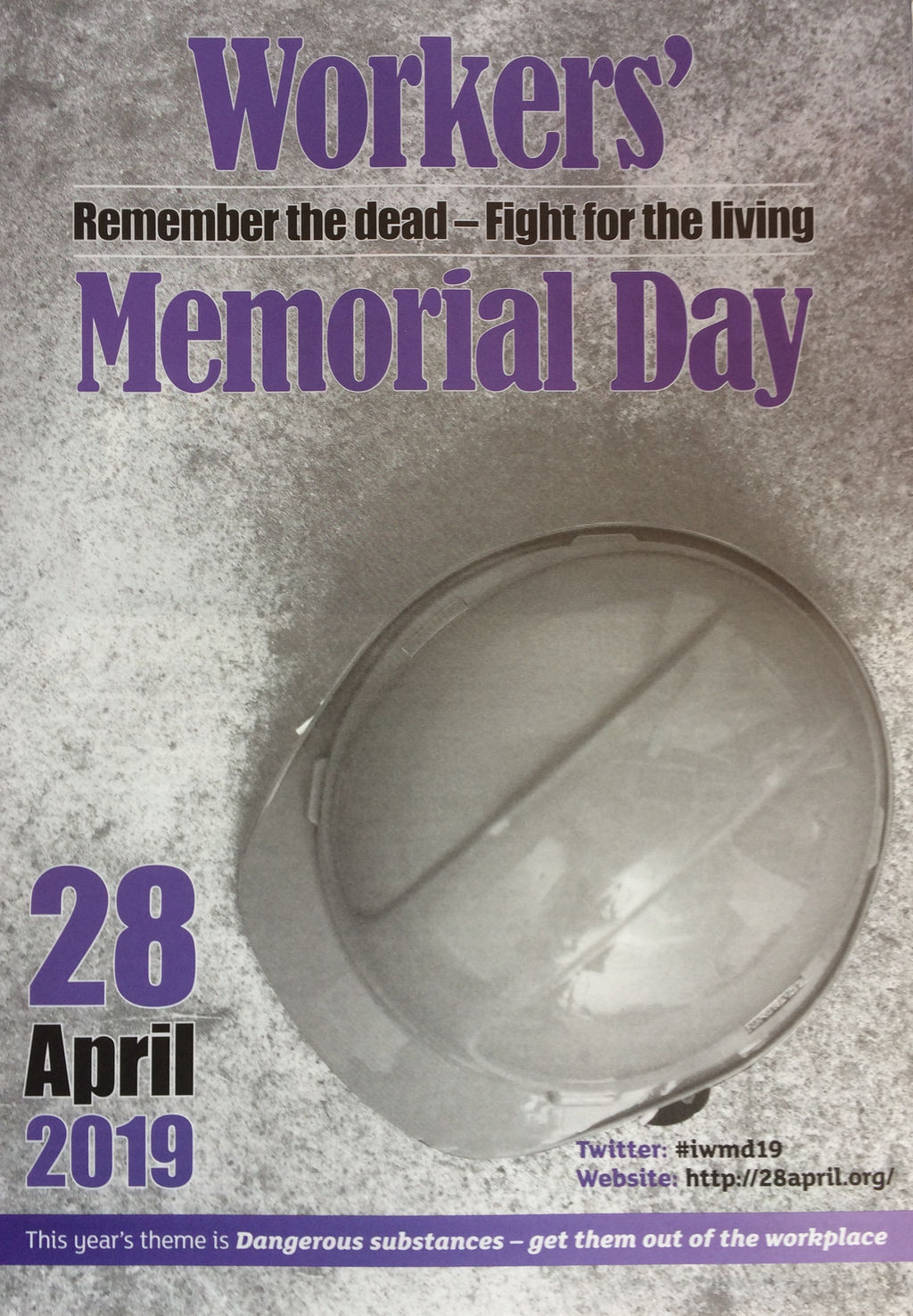 28 April Is Workers Memorial Day