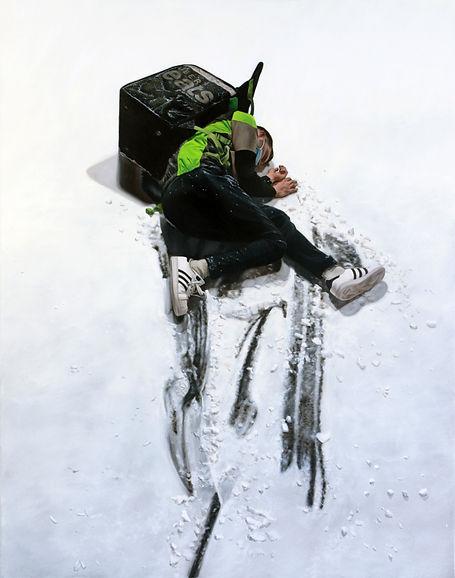 Clichy sous la neige, 2021, huile sur toile, 120 x 95 cm.jpg