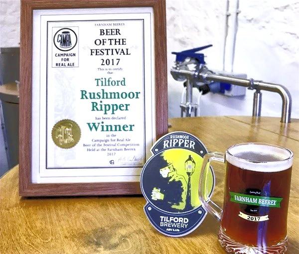 Rushmoor Ripper 2017 BeerEX Winner
