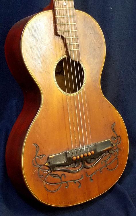 guitarra de salón Parlor Karl Frey de 1916.