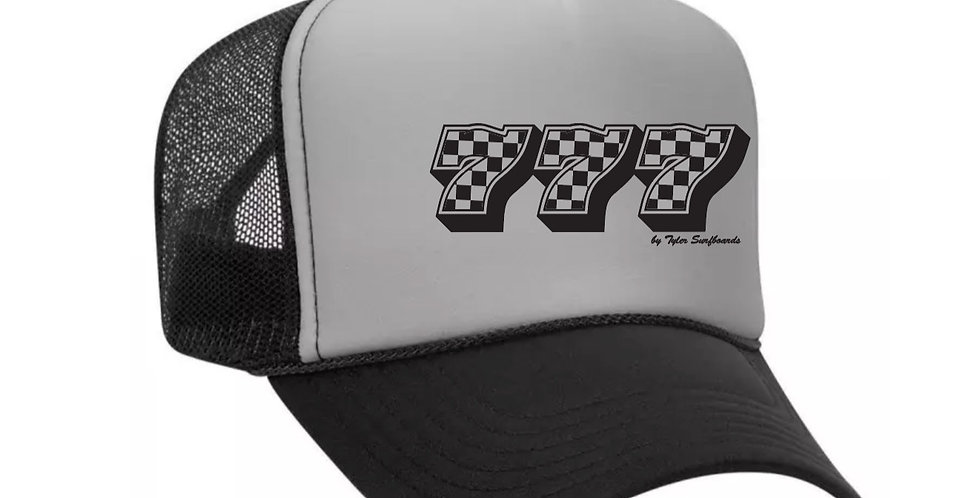 777 Black Grey Trucker Hat