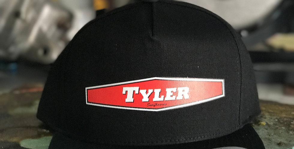 Black Hex Twill Hat - Snapback