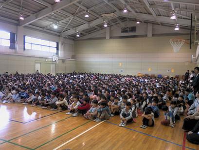 横浜市立茅ケ崎小学校で訪問コンサートを行いました。(2018年11月9日)