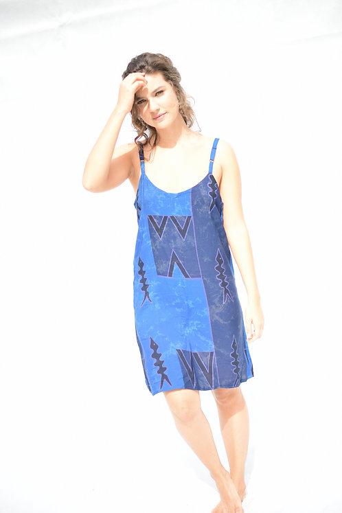 Vestido Bali Batik Azul