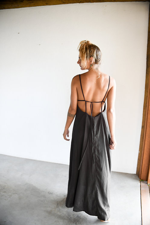 Vestido Linho Preto