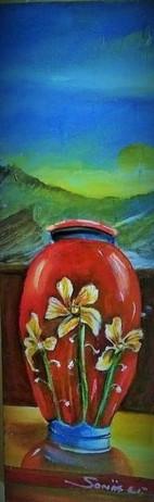Antique Red Vase