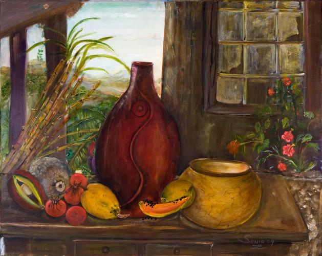 Grandmas Clay Vase
