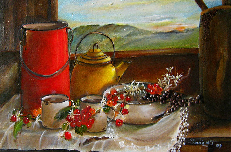 Coffee Blossoms, Berries and Beans