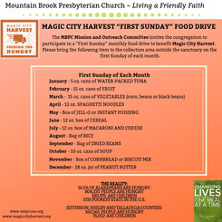 "Magic City Harvest ""First Sunday"" Food Drive"