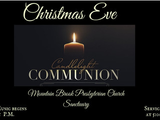 Join us on December 24 for our Christmas Eve Service