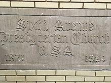 Cornerstone Sixth Ave Pres Church 1871-1