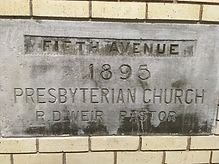 Cornerstone Fifth Ave Pres Church 1895