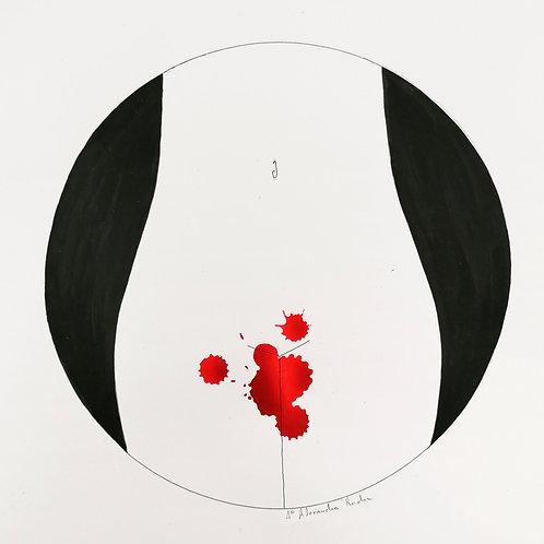 Luna Roșie - print semnat