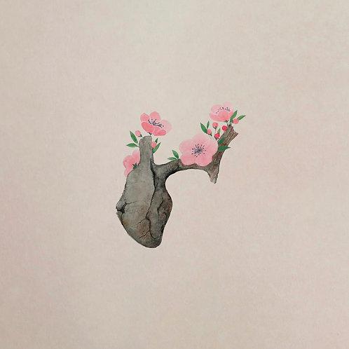 Inima - Fata Arbore - print semnat