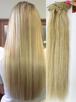 """Clip In Extensions - 20"""" SANDY BLONDE #24"""