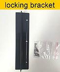 locking bracket Pet door insert for sliding door