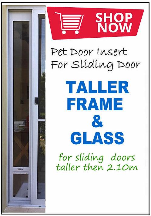 TALLER FRAME & GLASS for a pet door insert