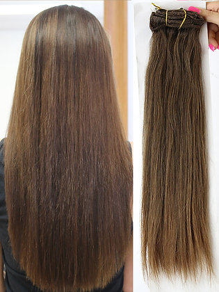 "Clip In Extensions - 20"" CHOCOLATE 8 pcs"
