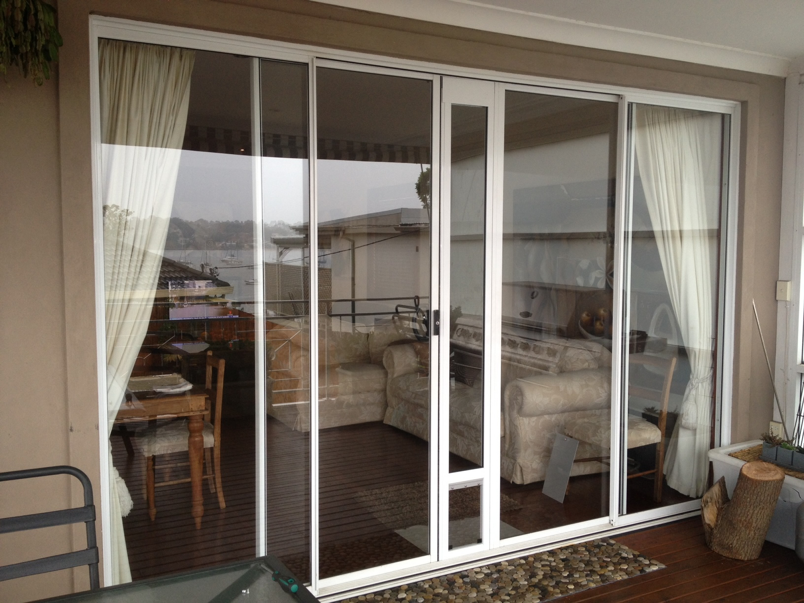 double sliding door middle install with wheels.jpg