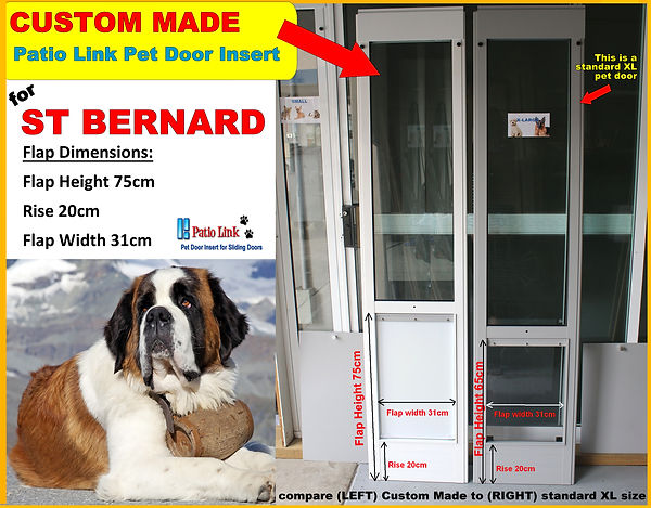 St Bernard custom made pet door insert