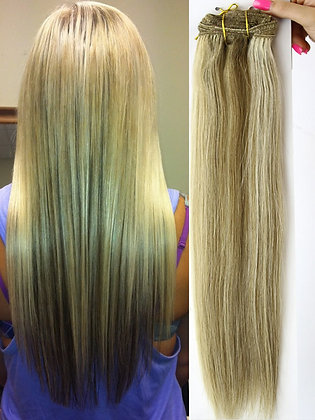 "Clip In Extensions - 20"" BEACH BABE #24B/613/12"