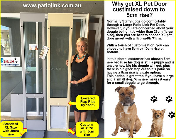 Custom Height Pet door inserts for sliding door