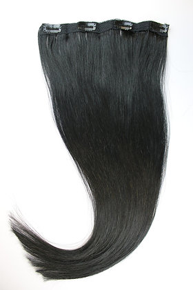"""Clip In REMY HUMAN HAIR Extensions 22"""" Jet Black"""
