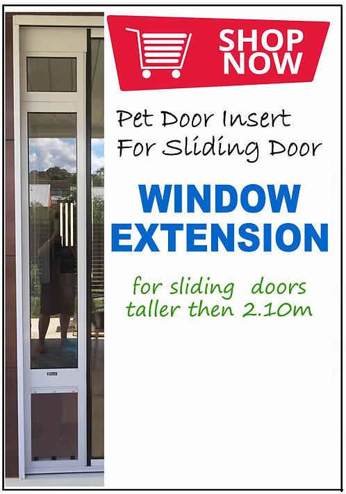 WINDOW EXTENSION for a pet door insert