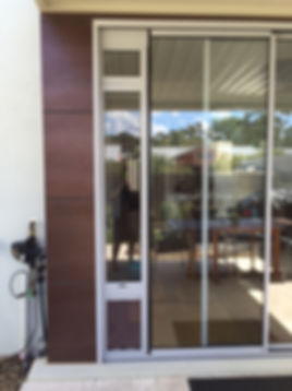 Custom Pet Door insert window extension