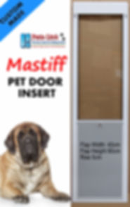 Custom Pet Door insert taller frame glass