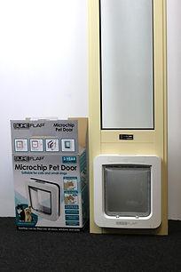 Sure Flap Micro Chip Pet Door Insert Sliding door Temporary door