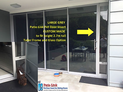 Custom made Large Grey pet door insert