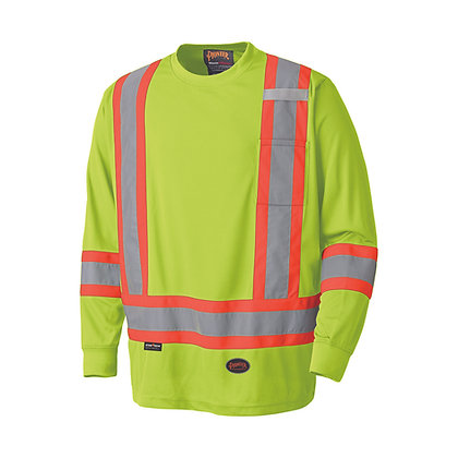 Birdseye Long-Sleeved Safety Shirt - 2 Stripe