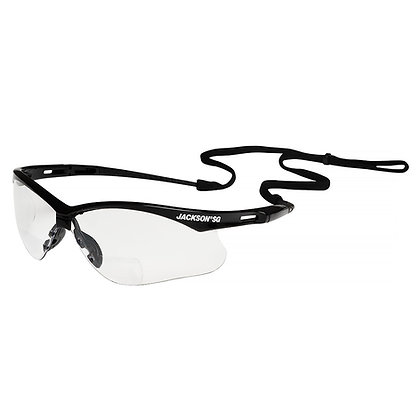 JACKSON SG Readers (1.5+) with Black Frame and Clear Lens