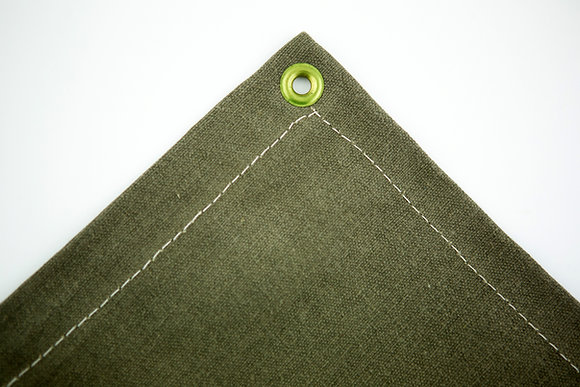 Green Canvas Opaque Welding Curtains