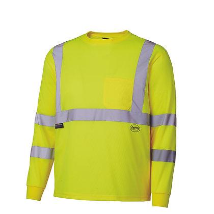 Birdseye Long-Sleeved Safety Shirt - 1 Stripe