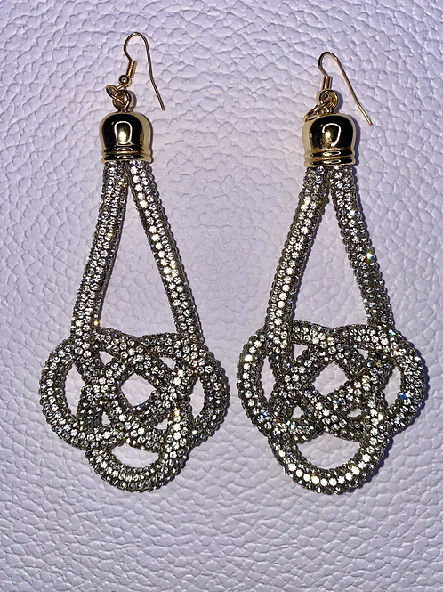 Knot Yours Silver Earrings