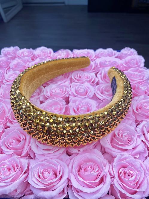 So Spoiled Gold Headband