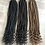 Thumbnail: Honey-blonde & Dark-brown Ready-made Crochet Goddess Locs