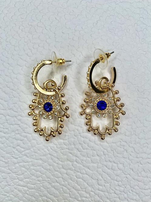 Hand of Hamsa Gold Earrings