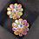 Thumbnail: Flower Iridescent Clip-on Earring
