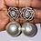 Thumbnail: Silver Flower Pearl Earrings