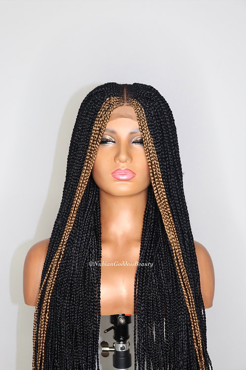 Two Tone Ombre Braided Wig