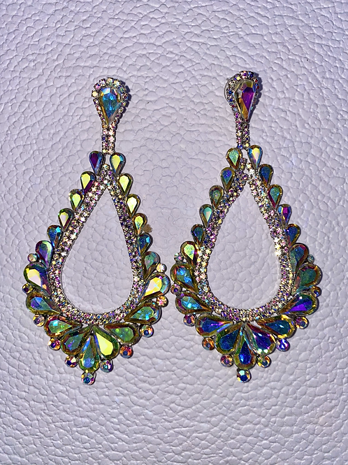 Old Hollywood Glam Iridescent Earrings
