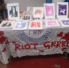 'riot grrrl' linoprints