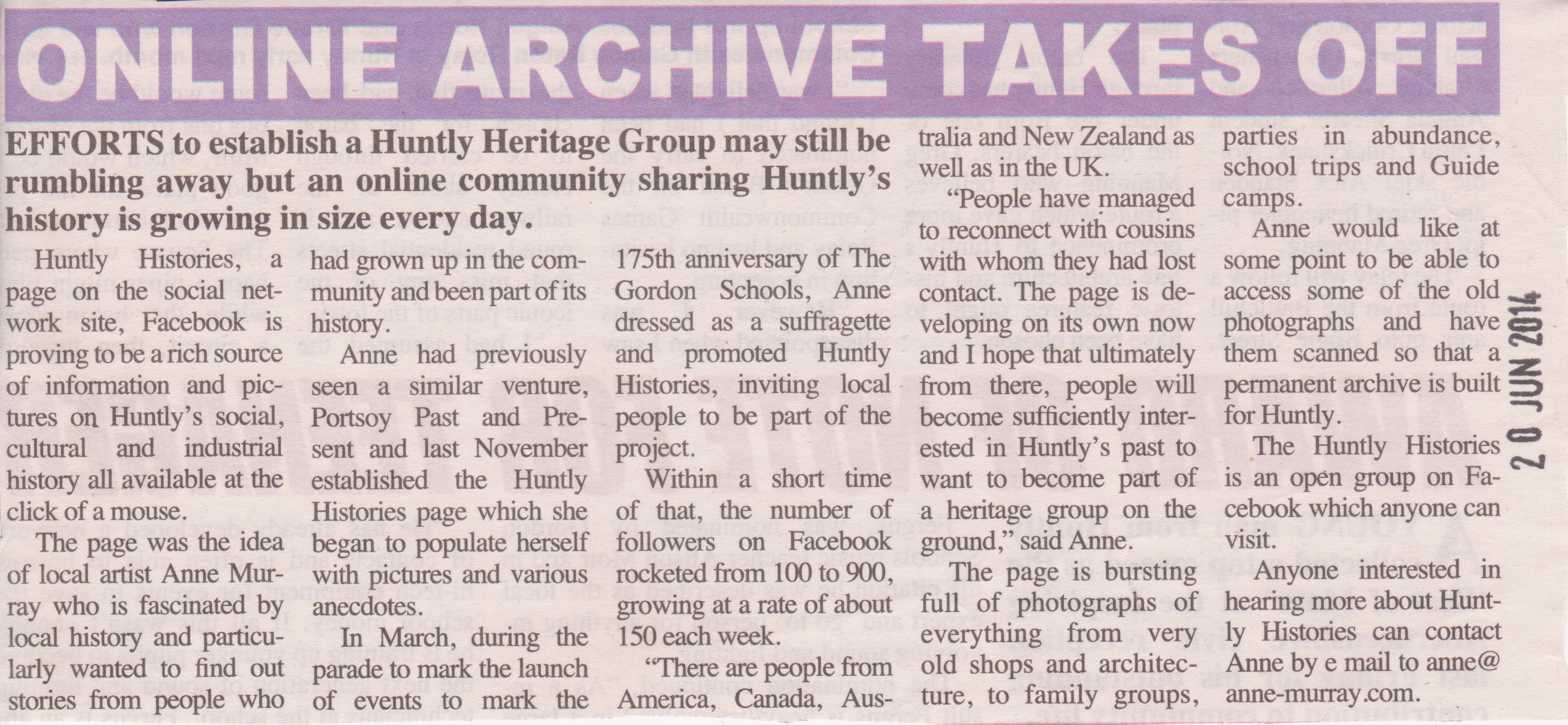 Huntly Histories