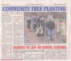Tree planting in Huntly