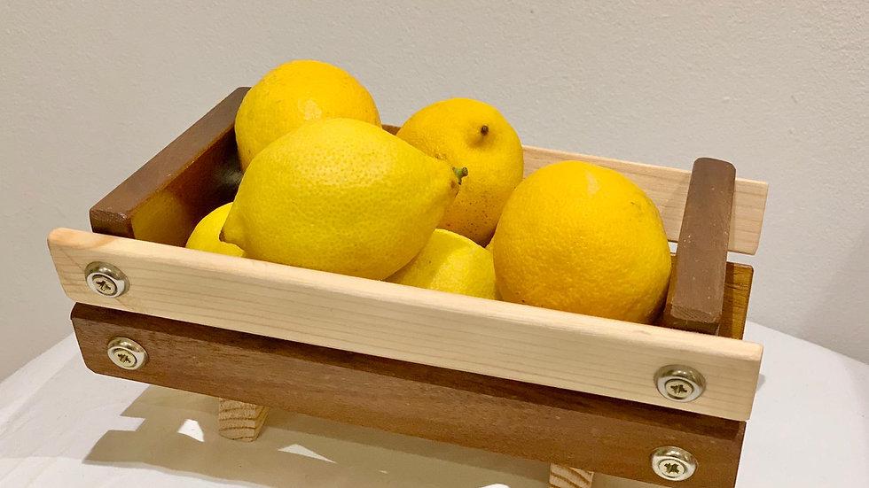 Small Timber Fruit Basket