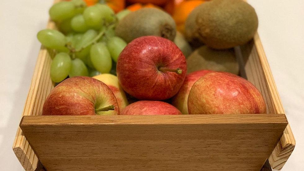 Large Timber Fruit Basket